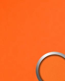 Dekorpaneel Nappaleder Optik WallFace 20424 Antigrav Pumpkin Orange Wandverkleidung glatt in Leder Optik matt orange 2, 6 m2