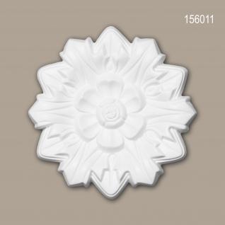 Rosette PROFHOME 156011 Deckenelement Zierelement Neo-Renaissance-Stil weiß Ø 19, 8 cm