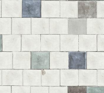 Grafik Tapete Profhome 368552-GU Vliestapete leicht strukturiert mit grafischem Muster matt blau grau 5, 33 m2