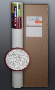 EDEM 80307BR70 1 Kart 4 Rollen XXL stabile überstreichbare Vlies-Tapete rauhfaser-putz weiß 106 qm