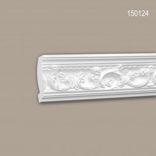 Eckleiste PROFHOME 150124 Zierleiste Stuckleiste Rokoko Barock Stil weiß 2 m