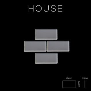 Mosaik Fliese massiv Metall Edelstahl hochglänzend in grau 1, 6mm stark ALLOY House-S-S-M 0, 98 m2 - Vorschau 2
