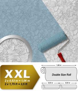 Struktur Tapete EDEM 80309BR60 XXL Vliestapete zum Überstreichen streichbar spachtel-putz-dekor maler weiß 26, 50 qm