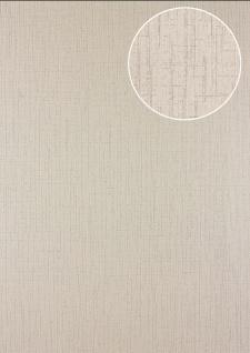 Grafik Tapete Atlas 24C-5057-7 Vliestapete strukturiert mit abstraktem Muster und Metallic Effekt beige grau-beige silber 7, 035 m2