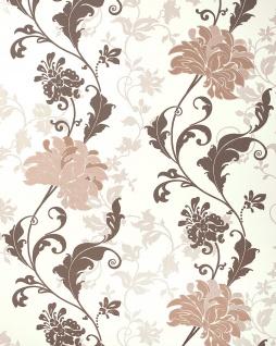 Blumen Tapete EDEM 833-23 edles florales Design Blüten Blätter Blumentapete braun beige hellbraun 70 cm