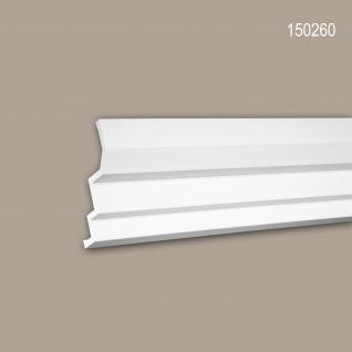 Eckleiste PROFHOME 150260 Zierleiste Stuckleiste Modernes Design weiß 2 m