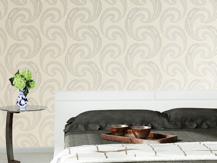 Grafik Vliestapete EDEM 915-30 XXL Präge Retro Tapete geschwungene abstraktes Muster beige creme gold 10, 65 qm - Vorschau 4