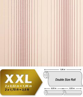 Streifen Tapete Vliestapete EDEM 973-33 XXL Designer Tapete gestreifte Objekttapete rosa beige altrosa 10, 65 qm