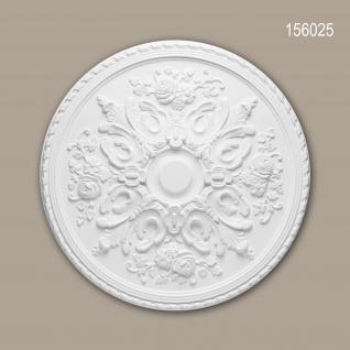Rosette PROFHOME 156025 Zierelement Deckenelement Rokoko Barock Stil weiß Ø 82, 0 cm