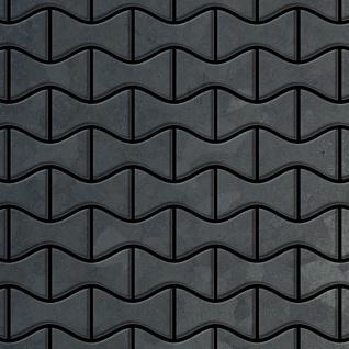 Mosaik Fliese massiv Metall Rohstahl gewalzt in grau 1, 6mm stark ALLOY Kismet-RS Designed by Karim Rashid 0, 86 m2