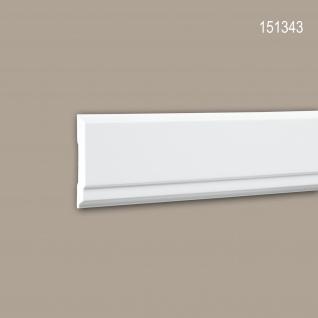Wand- und Friesleiste PROFHOME 151343 Stuckleiste Zierleiste Wandleiste Modernes Design weiß 2 m