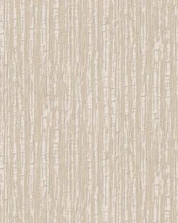 Streifen Tapete Profhome DE120081-DI heißgeprägte Vliestapete geprägt mit Streifen glänzend elfenbein weiß 5, 33 m2