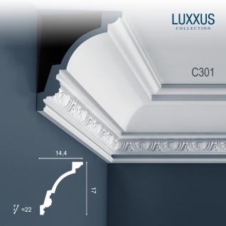 Eckleiste Orac Decor C301 LUXXUS Stuckleiste Zierleiste Stuck Deckenleiste Stuckgesims Decken Wand Dekor Leiste 2 Meter