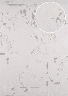 Barock Tapete ATLAS CLA-599-7 Vliestapete geprägt mit Ornamenten glänzend silber perl-beige grau-beige 5, 33 m2