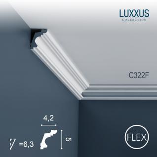 Dekor Profil Orac Decor C322F LUXXUS flexible Leiste Eckleiste Zierleiste Decken Stuck Gesims Dekorleiste | 2 Meter