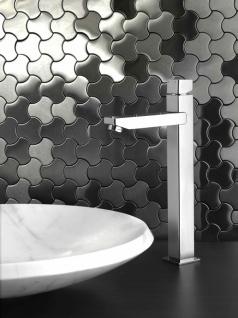 Mosaik Fliese massiv Metall Edelstahl gebürstet in grau 1, 6mm stark ALLOY Ubiquity-S-S-B Designed by Karim Rashid 0, 75 m2 - Vorschau 5