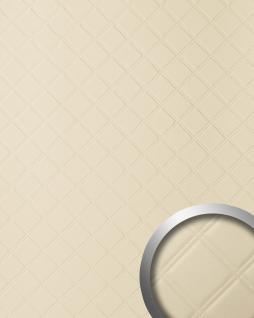 Wandpaneel Leder Design Karo Muster WallFace 13867 ROMBO Wandplatte Wandverkleidung selbstklebend creme | 2, 60 qm