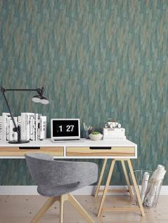 Streifen Tapete Profhome VD219144-DI heißgeprägte Vliestapete geprägt mit Streifen dezent schimmernd blau creme-weiß bronze 5, 33 m2 - Vorschau 2