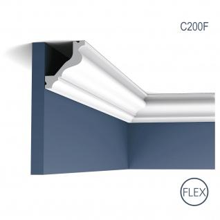 Profilleiste Stuckleiste Stuckdekor Orac Decor C200F LUXXUS flexible Zierleiste Eckleiste Decken Wand Leiste | 2 Meter