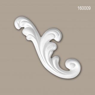 Zierelement PROFHOME 160009 Rokoko Barock Stil weiß