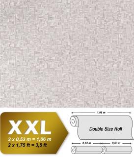 Holz Tapete 3D Vliestapete XXL EDEM 951-27 Tapete in Bambus Optik hochwertige geprägte Struktur Lichtgrau grau 10, 65 qm