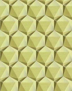 Retro Tapete EDEM 1050-15 Vinyltapete leicht strukturiert mit geometrischen Formen dezent glitzernd beige grün-beige oliv-grün 5, 33 m2
