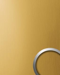 Wandverkleidung Design Platte WallFace 15299 DECO EyeCatch Metall Dekor selbstklebende Tapete gold gebürstet matt 2, 60 qm