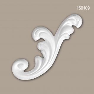 Zierelement PROFHOME 160109 Rokoko Barock Stil weiß