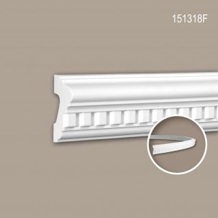 Wand- und Friesleiste PROFHOME 151318F Stuckleiste Flexible Leiste Zierleiste Neo-Klassizismus-Stil weiß 2 m