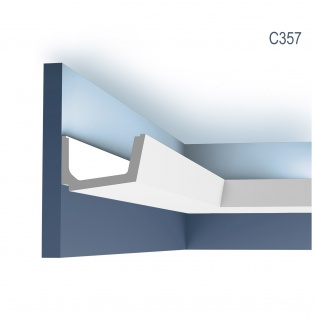 Stuck Zierleiste Orac Decor C357 LUXXUS Eckleiste für indirekte Beleuchtung Gesims Deckenleiste 2 Meter