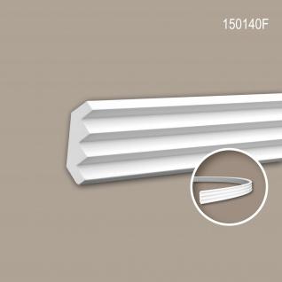 Eckleiste PROFHOME 150140F Zierleiste Flexible Leiste Stuckleiste Modernes Design weiß 2 m