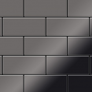 Mosaik Fliese massiv Metall Titan hochglänzend in dunkelgrau 1, 6mm stark ALLOY Subway-Ti-SM 0, 58 m2