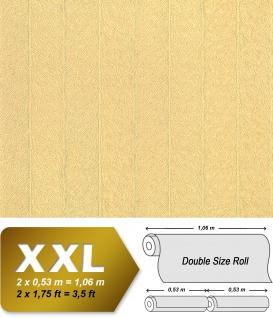 Streifen Tapete XXL Vliestapete EDEM 952-22 Geprägte Struktur Pelz Optik hochwertige Design Mustertapete beige hellbraun karamell 10, 65 m2
