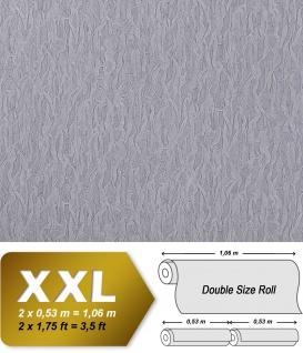 Uni Tapete Vliestapete EDEM 930-37 Hochwertige geprägte Stuktur Textiloptik blau-lila grau Silberschimmereffekt 10, 65 qm