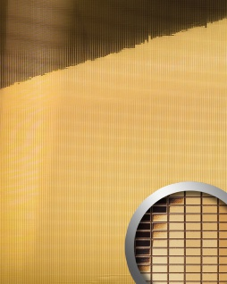 Wandpaneel Wandverkleidung WallFace 10593 M-Style Design Platte EyeCatch Metall Mosaik Party Dekor selbstklebend spiegel gold 0, 96 qm