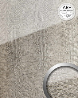 Wandpaneel Glas-Optik WallFace 16979 LEGUAN Luxus Dekor Wandverkleidung abriebfest selbstklebend silber grau | 2, 60 qm