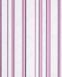 Streifen Tapete EDEM 059-24 Retro Sweet Summer Design Tapete stylisch gestreiftes Muster creme-weiß flieder lila