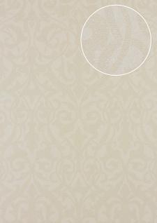 Barock Tapete Atlas PRI-545-5 Vliestapete strukturiert in Textiloptik matt beige hell-elfenbein creme-weiß 5, 33 m2