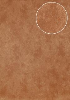Stein-Kacheln Tapete Atlas ICO-5073-5 Vliestapete glatt Gesprenkelt schimmernd braun bronze 7, 035 m2