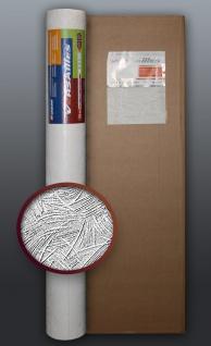 EDEM 80308BR60 1 Kart 4 Rollen XXL überstreichbare Vliestapete dekor-putz-optik weiß 106 qm