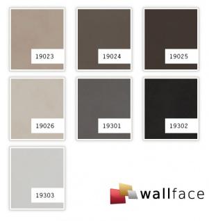 Dekorpaneel Leder Optik WallFace 19302 CHARCOAL DARK Wandpaneel glatt in Nappaleder Optik matt selbstklebend anthrazit schwarz-braun 2, 6 m2 - Vorschau 2