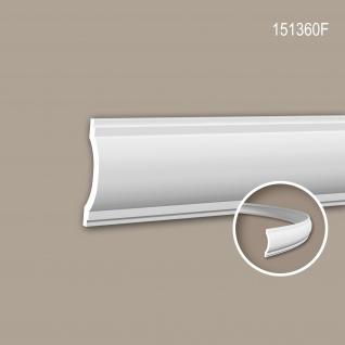 Wand- und Friesleiste PROFHOME 151360F Stuckleiste Flexible Leiste Zierleiste Neo-Klassizismus-Stil weiß 2 m