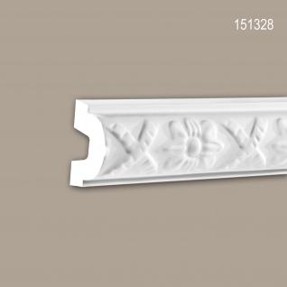 Wand- und Friesleiste PROFHOME 151328 Stuckleiste Zierleiste Wandleiste Neo-Klassizismus-Stil weiß 2 m