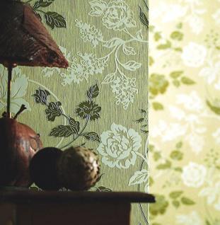 3D Blumentapete Landhaustapete EDEM 116-24 Design Blumen Floral Tapete hell-karamell weiß kupfer-braun silber - Vorschau 3