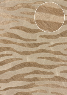 Tiermotiv Tapete Atlas SKI-5069-2 Vliestapete geprägt mit Zebramuster schimmernd beige grau-beige reh-braun blass-braun 7, 035 m2 - Vorschau 1
