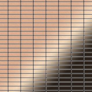 Mosaik Fliese massiv Metall Kupfer gewalzt in kupfer 1, 6mm stark ALLOY Cabin-CM 1, 01 m2
