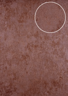 Uni Tapete ATLAS HER-5141-5 Vliestapete strukturiert mit Struktur schimmernd braun braun-rot 7, 035 m2