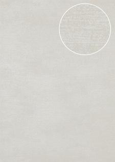 Ton-in-Ton Tapete Atlas SIG-587-6 Vliestapete glatt mit abstraktem Muster schimmernd grau licht-grau grau-weiß 5, 33 m2