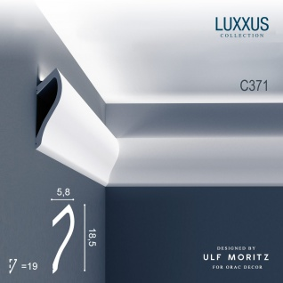 Orac Decor C371 LUXXUS 1 Karton SET mit 8 Eckleisten Stuckleisten | 16 m - Vorschau 2