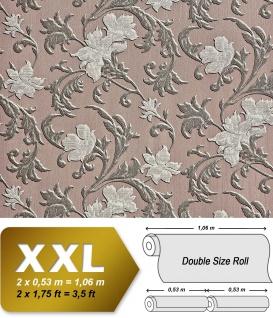 Blumen Tapete XXL Vliestapete EDEM 992-36 Florales Muster geprägte Struktur braun silber grau 10, 65 m2